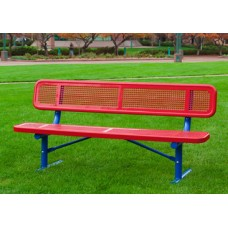 3 Foot Preschool Bench with Back Portable Diamond
