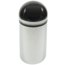 Dome top receptacle with push doors